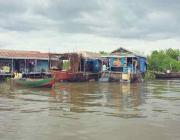 Chong Kneas Floating Village in Siem Reap