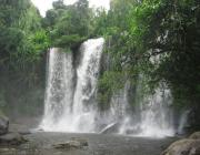 Kulen Mountain or Phnom Kulen Waterfall in Siem Reap